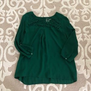 Anthropologie HD Size 8 Emerald Laser Cut Detail